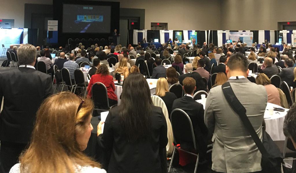 Don Tapscott, morning keynote presenter, addresses the attendees