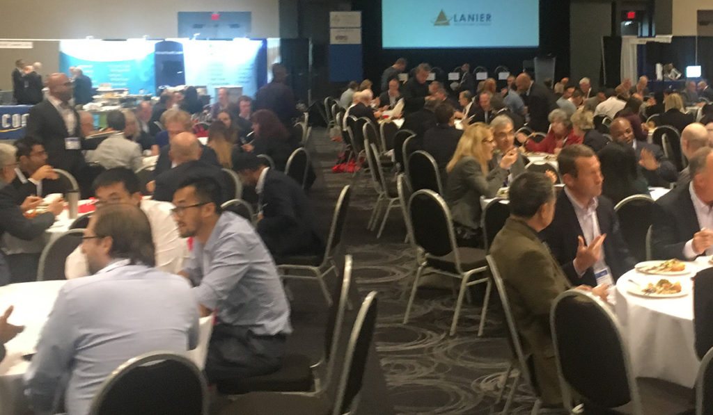 attendees networking during lunch