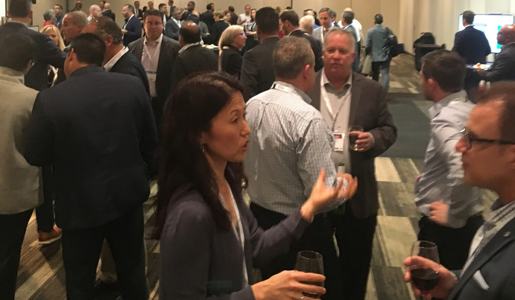 after-event cocktail networking reception onsite