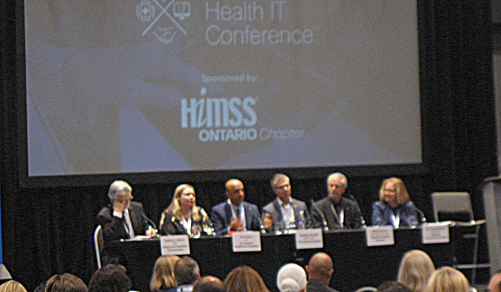 Afternoon keynote panelists sharing thoughts and perspectives with attendees during afternoon keynote panel discussion